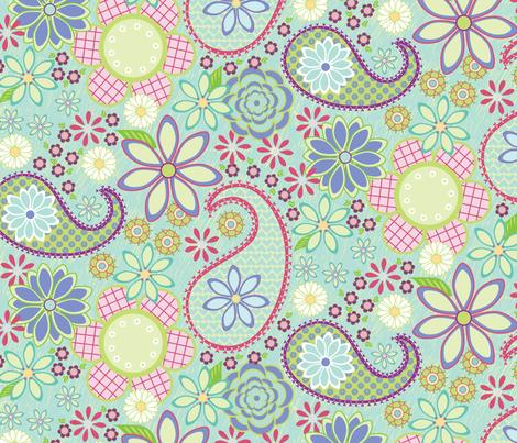 Flower Power fabric by jillbyers on Spoonflower - custom fabric