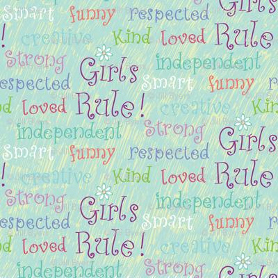 Girls Rule blue