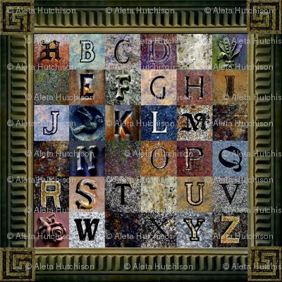 ABCs of the Churchyard ~ w/Frame