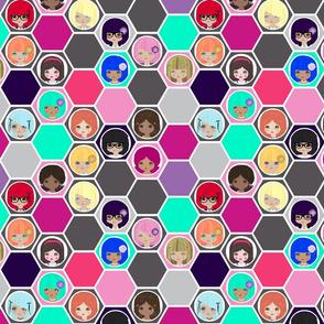 Hexa dollies multi