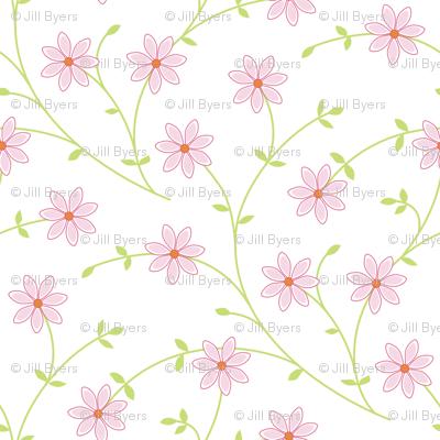 Daisy vine pink white