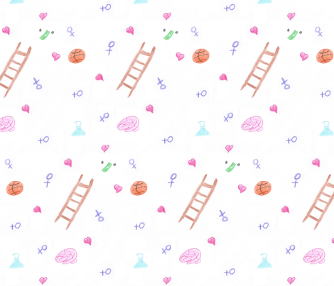 Climbing_the_Ladder fabric by ncalma on Spoonflower - custom fabric