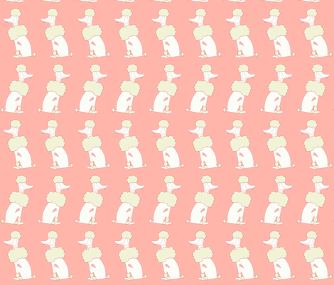 Oodles of Poodles in Coral fabric by powellingaround on Spoonflower - custom fabric