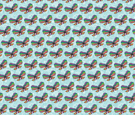 Strong Smart Beautiful ME butterfly fabric by gitchyville_stitches on Spoonflower - custom fabric