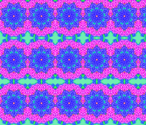 pink and blue mums fabric by jellybeanquilter on Spoonflower - custom fabric