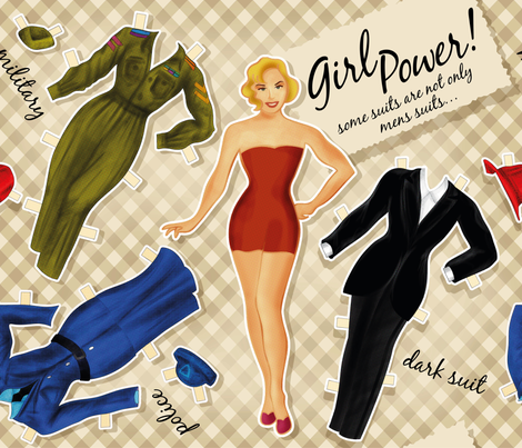 Paper Doll fabric by cassiopee on Spoonflower - custom fabric