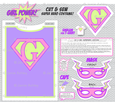 GirlPower! - Cut and Sew Super Hero Costume