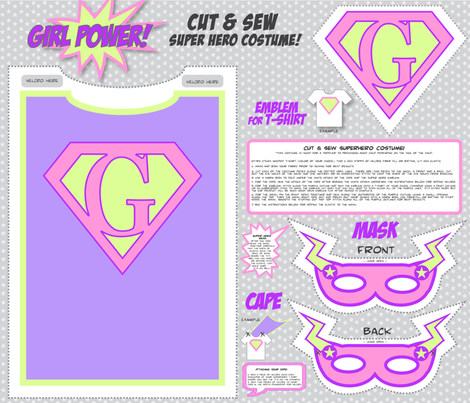 GirlPower! - Cut and Sew Super Hero Costume fabric by love,witty on Spoonflower - custom fabric