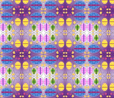 Easter Eggs fabric by ravynscache on Spoonflower - custom fabric