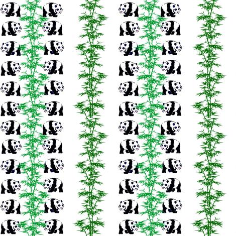 Panda Feast fabric by ravynscache on Spoonflower - custom fabric