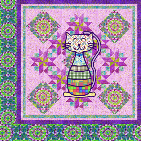country cat fabric by krs_expressions on Spoonflower - custom fabric