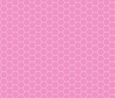 honeycomb pink fabric by katarina on Spoonflower - custom fabric