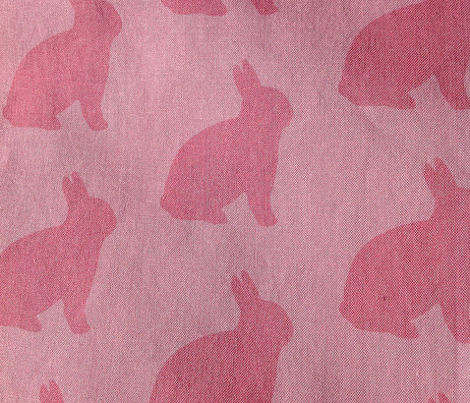Pink bunnies on pink
