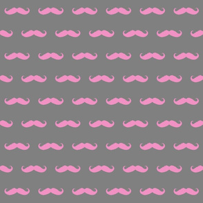 mustaches ikat edges in pink