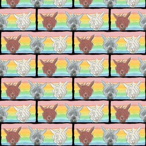 Alpacaluvtriptych fabric by luvinewe on Spoonflower - custom fabric