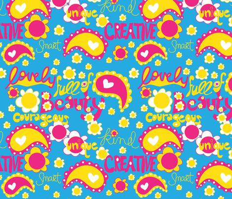 Lovely Girl Power fabric by artsycanvasgirl on Spoonflower - custom fabric