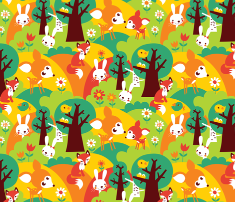 Summer Forest fabric by bora on Spoonflower - custom fabric