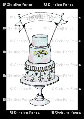 Wedding Cake Fabric