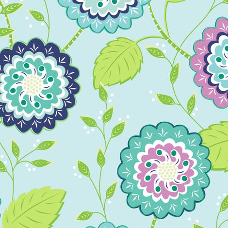 Rose Garden  fabric by jillbyers on Spoonflower - custom fabric