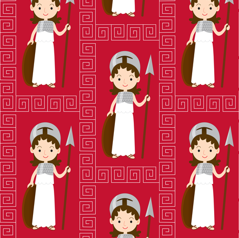 The goddess Athena  fabric by petitspixels on Spoonflower - custom fabric