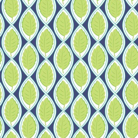 Leaf Spiral navy fabric by jillbyers on Spoonflower - custom fabric
