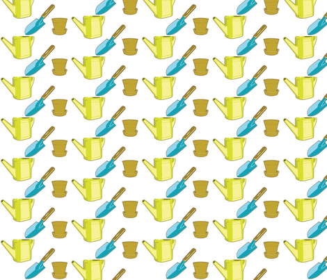 Spring Garden fabric by 23burtonavenue on Spoonflower - custom fabric