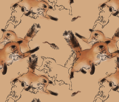 repeatfoxoption fabric by kadmurph on Spoonflower - custom fabric
