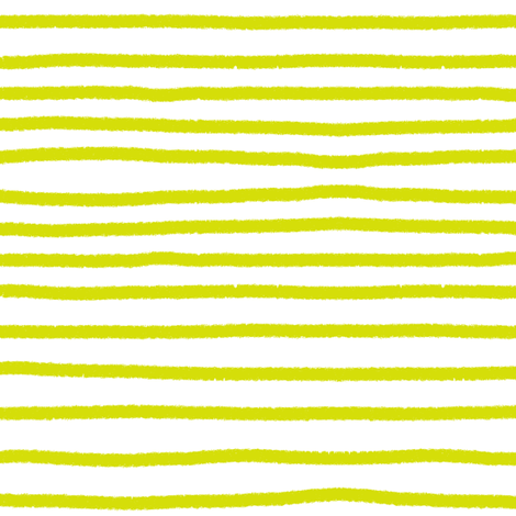 Sketchy Stripes // Chartreuse  fabric by theartwerks on Spoonflower - custom fabric