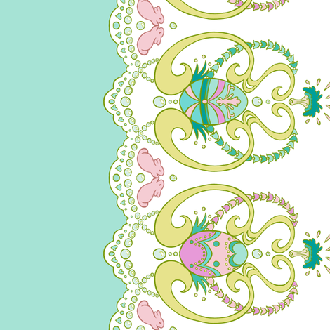 Rococo Painted Egg Border fabric by aimee on Spoonflower - custom fabric