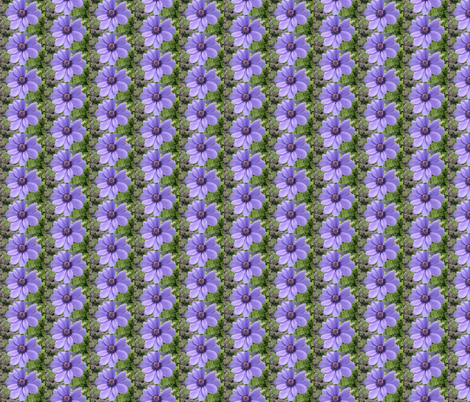 Lavender Daisy fabric by winterblossom on Spoonflower - custom fabric