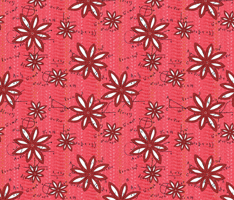 Flowers and Math - Girl Power fabric by martaharvey on Spoonflower - custom fabric