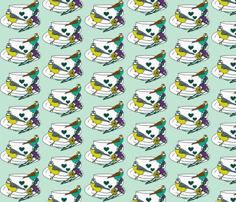 Blue Bird fabric by floret_bloom on Spoonflower - custom fabric