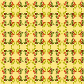 Girly Flower Power Geometric Small repeat