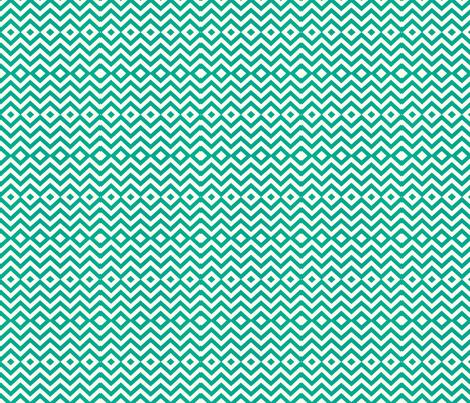 Chevron Diamond Pattern in Teal fabric by theartwerks on Spoonflower - custom fabric