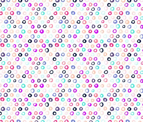 Painted Circles // Unicorn fabric by theartwerks on Spoonflower - custom fabric