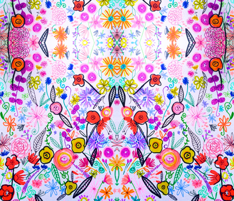 Spring Dilley Dallie  fabric by theartwerks on Spoonflower - custom fabric