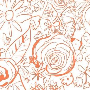 In the Garden Sketch // Persimmon