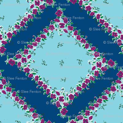 Blue Skies Grandma's Handkerchief on Point