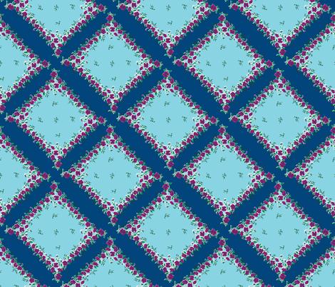 Blue Skies Grandma's Handkerchief on Point fabric by fentonslee on Spoonflower - custom fabric