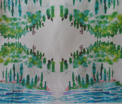 Northwoods Watercolor - white