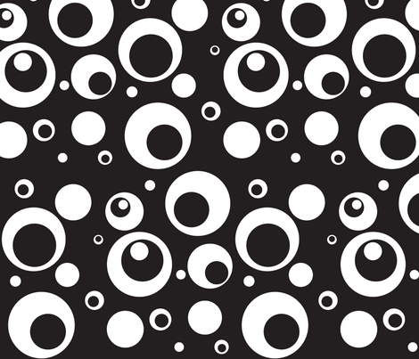 Circles and Dots LBK fabric by ripdntorn on Spoonflower - custom fabric