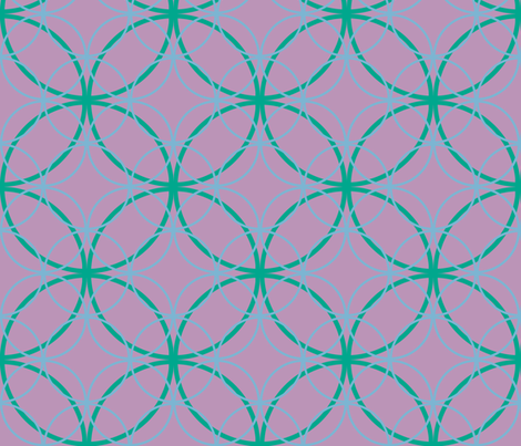 Encircled ~ Ozma, Sky Blue and Lavender fabric by peacoquettedesigns on Spoonflower - custom fabric