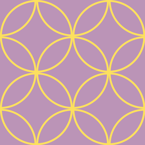 Encircled ~ Lemon and Lavender fabric by peacoquettedesigns on Spoonflower - custom fabric