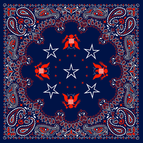 bandana red, white and blue - small fabric by krs_expressions on Spoonflower - custom fabric