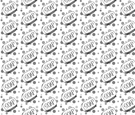 Soap and Bubbles in Grayscale fabric by ripdntorn on Spoonflower - custom fabric