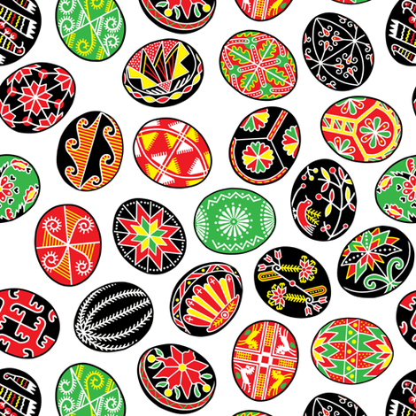 Traditional Pysanky (Painted Eggs) fabric by draigathar on Spoonflower - custom fabric