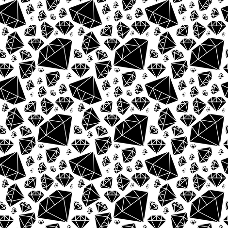 Diamonds on White fabric by pencilmein on Spoonflower - custom fabric