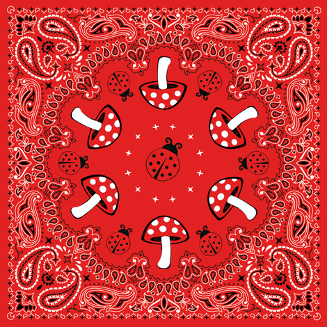 bandana - red, small fabric by krs_expressions on Spoonflower - custom fabric