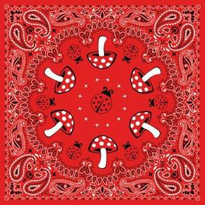 bandana - red, small
