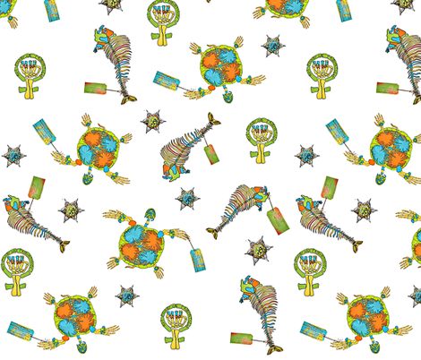 Kids empowering anthropology fabric by lizartelier on Spoonflower - custom fabric